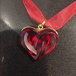 Lalique Heart Necklace